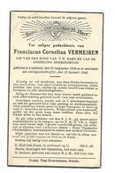 Doodsprentje Oorlogsslachtoffer Frans Vermeiren Loenhout 13 Januari 1945 - Santini