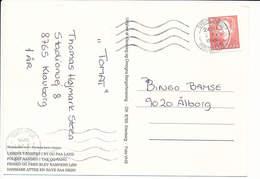 Mi 1028 Solo Postcard - 2 October 1995 Sydjyllands Postcenter - Klovborg - Cartas