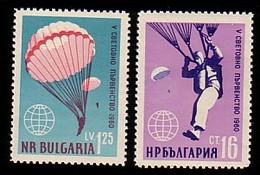 BULGARIA \ BULGARIE - 1960 Coupe Du Monde De Parachutisme - Sofia - 2v** - Bulgarie