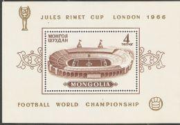 Mongolia 1966 Mi# Block 11 A ** MNH - World Soccer Championship For Jules Rimet Cup, Wembley, England - Mongolia