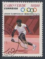 Cape Verde Kap Verde 1980 Mi 412 YT 419 Used - Tennis - Olympic Games, Moscow / Olympische Sommerspiele, Moskau - Kaapverdische Eilanden
