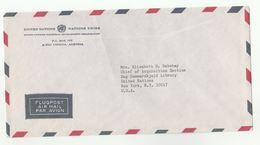 UN In AUSTRIA  UNIDO  VIENNA COVER To UN NY USA Industrial Development Organization  United Nations - UNO
