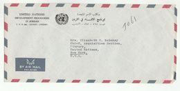 UN In JORDAN COVER UNDP Amman  To UN NY USA United Nations - Jordan