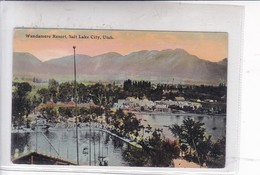 WANDAMERE RESORT, SALTLAKE CITY. UTAH. SOUVENR NOVELTY CO. CIRCA 1910's. -BLEUP - Salt Lake City