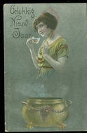 NEDERLAND ANSICHTKAART NVPH 51 Gelopen Van BERGENTHEIM Naar SCHUTSLOOT  * FANTASIE (3887f) - Vrouwen