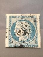 FRANCE - Cérès N° 4 - Oblitéré - 25c Bleu Avec 3 Grandes Marges - 1849-1850 Ceres