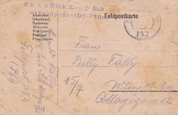 Feldpostkarte Eisenbahn Sich. Komp. No. 2 - Feldpost 192 - Nach Wien - 1918 (36055) - 1850-1918 Imperium