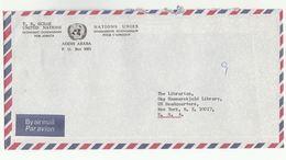 UN In ETHIOPIA UNECA ADDIS ABABA COVER To UN NY USA  United Nations Economic Commission For Africa - Ethiopia
