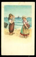 NEDERLAND ANSICHTKAART Uit 1923 NVPH 61 Gelopen Van GRONINGEN Naar OUD-BEIJERLAND * FANTASIE (3887k) - Andere