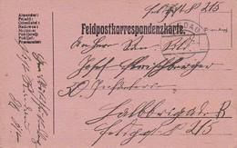 Feldpostkarte Riedau Nach Feldpost 215  - 1916 (36060) - Briefe U. Dokumente