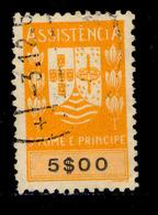 ! ! St. Thomas - 1948 Postal Tax 5$00 - Af. ---- - Used - St. Thomas & Prince
