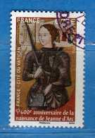Francia ° 2012-  JEANNE D'ARC. YVERT. 4654 .  Oblitéré.   Vedi Descrizione. - Gebraucht