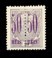 ! ! Mozambique Company - 1900 Elephants Coat Of Arms 50 R (Perforated) - Af. 43 - NGAI - Mozambique