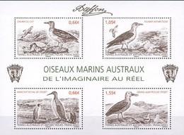 TAAF 2014  Mi.No. 847 - 850 (Block 41)   Fr. Antarktis  Birds S\sh MNH** - Ongebruikt