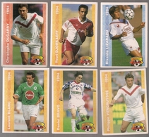 6 Cartes Panini Football 1994 Cards Official. Lizarazu Dugarry Djorkaeff Vercruysse Laurent Blanc Bravo - Other Collections