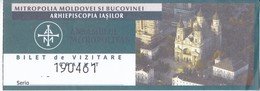 Romania  , Roumanie , Iasi , Mitropoly Museum  , Museum Ticket , 2018 , Used - Tickets D'entrée