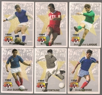 6 Cartes Panini Football 1994 Cards Official. Djorkaeff Fontaine Giresse Kopa  Lacombe Larqué - Other