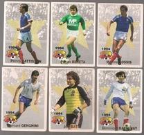 6 Cartes Panini Football 1994 Cards Official. Genghini Bats Bathenay  Battiston Bereta Bossis - Other Collections