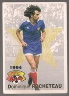 Carte Panini Football 1994 Cards Official. N° 18 Dominique Rocheteau - Andere Verzamelingen