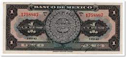 MEXICO,1 PESO,1943,P.28,VF - Mexico
