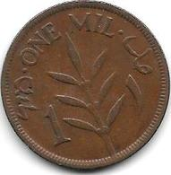 Palestina 1 Mil 1927 Km 1  Vf - Monnaies