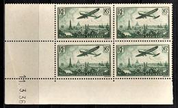 FRANCE 1934 / 1936 - BLOC DE 4 PA / Y.T. N° 8  - COIN DE FEUILLE / DATE / NEUFS** - Coins Datés
