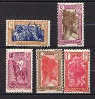 "MADAGASCAR  - 279/283* - SERIE COURANTE SANS ""RF"" - Madagaskar (1889-1960)"