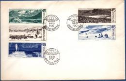 Sweden 1970 Tourismus 5 Values From Booklet FDC Kiruna, Lapland, Moose, Polar Circle, Northern Light - Vacances & Tourisme