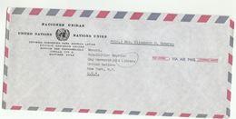 UN In CHILE UNECLA  SANTIAGO  COVER To  UN NY USA United Nations Economic Commission For Latin America - Chile