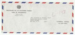 UN In PANAMA UNDP  COVER To  UN NY USA United Nations - Panama