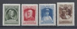 LIECHTENSTEIN 1929 FRANCOIS I Nº 90/93 - Liechtenstein