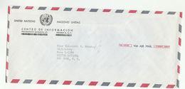 UN In MEXICO UNIC COVER To UN NY USA United Nations - UNO