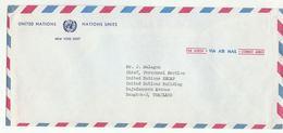 UN NY To UN ESCAP BANGKOK THAILAND  COVER  Usa United Nations - New York -  VN Hauptquartier
