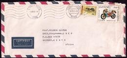 Bulgarie - 1992 - Lettre - Lettre Circulée Au Kenya Avec Des Timbres De Gilera Moto Et Fourmi - Bulgaria