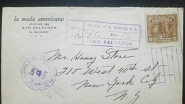 O) 1939 EL SALVADOR, EXTRACTING BALSAM-SCOTT A137 . 20c BROWN, FASHION -LA MODA AMERICANA, REGISTERED TO USA - El Salvador