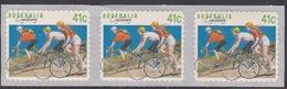 Australia ASC 1145 1989 Sports 41c Cycling, Peel And Stick Strip, Mint Never Hinged - 1980-89 Elizabeth II