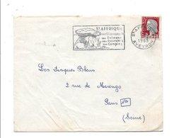 FLAMME DE SAINT AFFRIQUE AVEYRON 1963 - Postmark Collection (Covers)