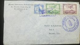 O) 1934 EL SALVADOR, POLICE BARRACKS SCT. A123, MAIL PLANE OVER SAN SALVADOR SCT AP1, MISION ADVENTISTA, COVER TO CANAL - El Salvador