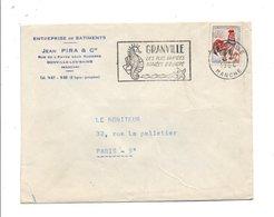 FLAMME DE GRANVILLE MANCHE 1964 - Marcofilia (sobres)
