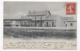 (RECTO / VERSO) BEAUNE LA ROLANDE EN 1908 - NOUVELLE GARE - LIGNE BEAUNE A ETAMPES - PLI ANGLE HAUT A GAUCHE - CPA - Beaune-la-Rolande