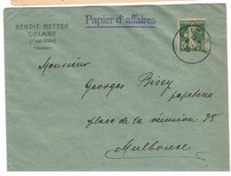5488 - Provisoire COLMAR  2 - Marcophilie (Lettres)