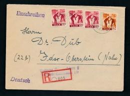 Saar ...Beleg   ( Oo3786  ) Siehe Scan ! - 1947-56 Allierte Besetzung