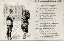 CPA Patriotique - Les 10 Commandements Du Soldat En 1915 - Patriotiques