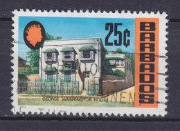 Barbados 1970 Mi. 307   25c. QEII & Washington House - Barbados (1966-...)