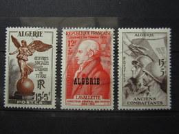 VEND BEAUX TIMBRES D ' ALGERIE N° 307 - 309 , X !!! - Algeria (1924-1962)