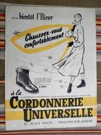 51 CHALONS SUR MARNE Catalogue CORDONNERIE UNIVERSELLE  Place FOCH - Publicités