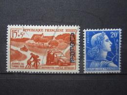 VEND BEAUX TIMBRES D ' ALGERIE N° 349 + 350 , X !!! - Algeria (1924-1962)