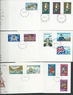 Norfolk Island 1977 - 1980 14 Different FDC Clean Official Unaddressed - Norfolk Island