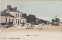 CARTE POSTALE   FISMES 51  La Gare - Fismes