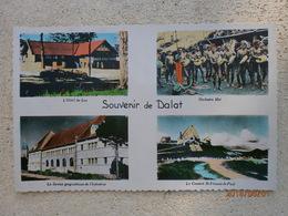 Dalat, Souvenir Multivues. Hotel Du Lac, Orchestre Moï, Service Géographique, Couvent Saint Vincent De Paul (A4p19) - Vietnam